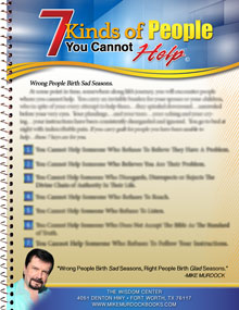 7 Kinds of People You Cannot Help (Download)